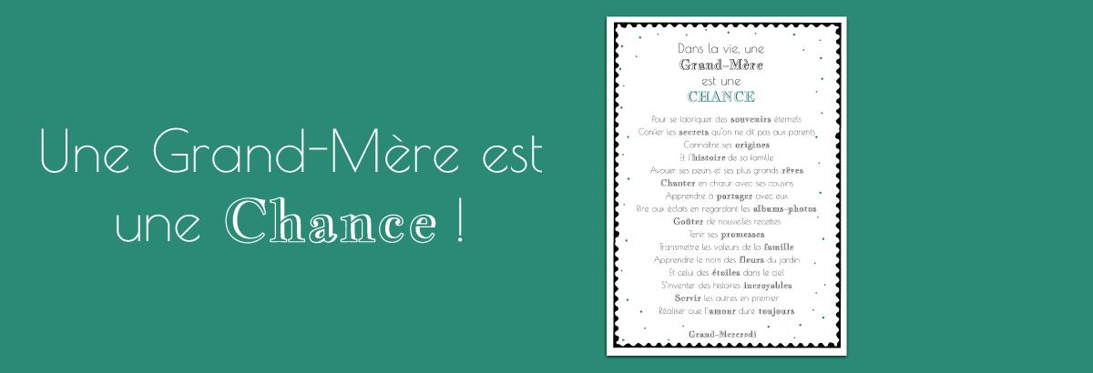 Affiche Grand-Mercredi Une grand-mère est une chance