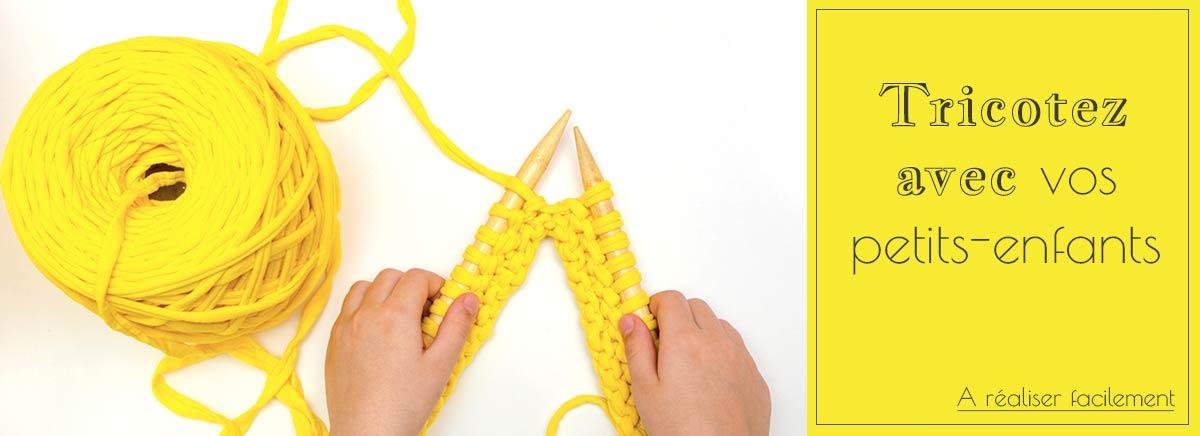 Tricoter avec enfants