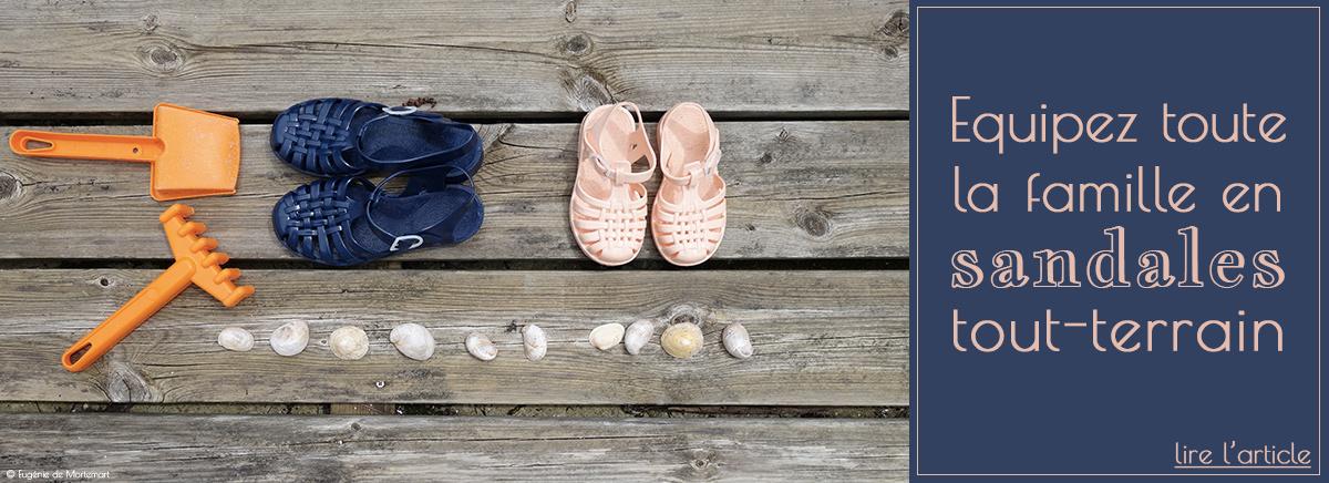 Les sandales méduses pour l'été