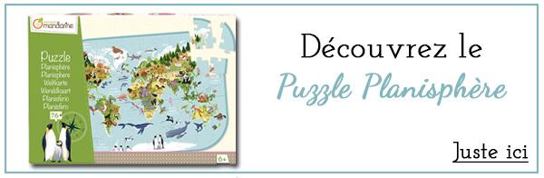 Cadeau puzzle Planisphère