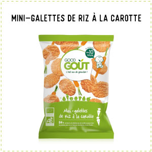 sésame alternative mini-galettes de riz à la carotte Good gout