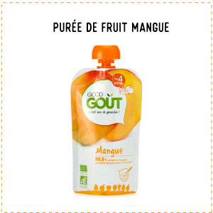 Les fruits alternative purée de fruit mangue good gout