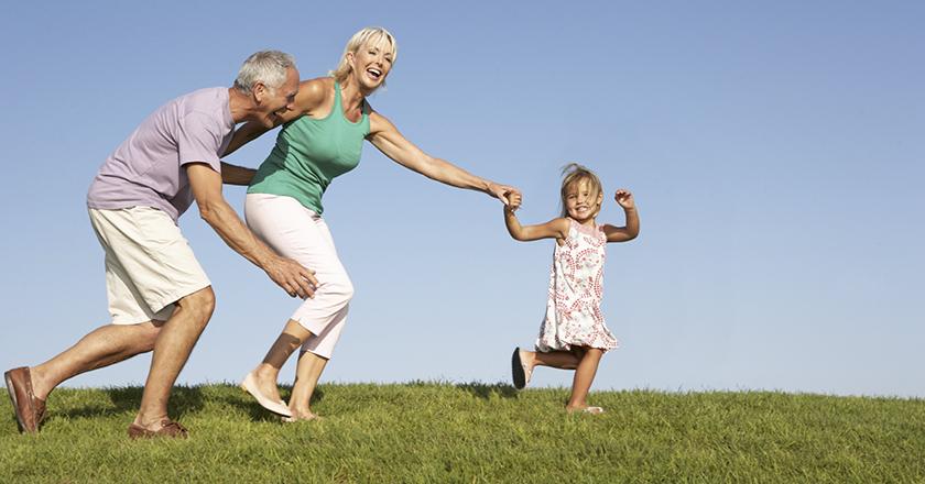 Les grands-parents dévoués