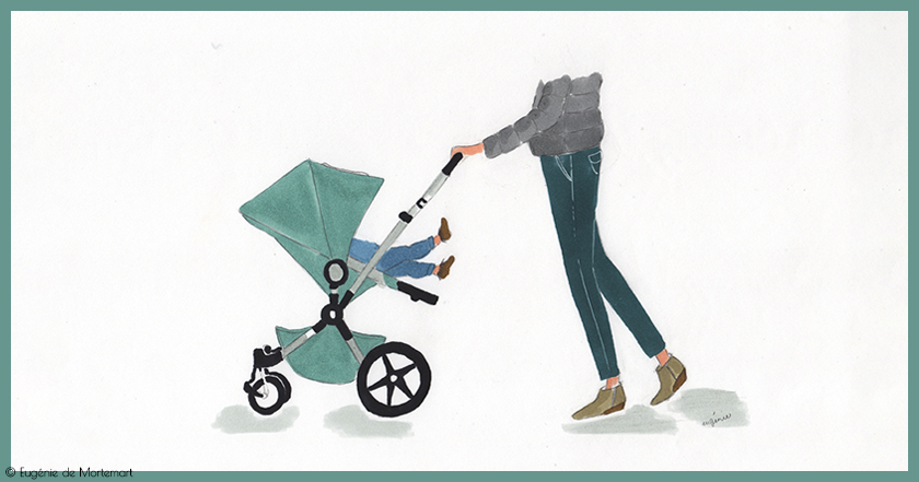 Se promener en poussette avec ses petits-enfants