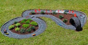 circuit de course jardin