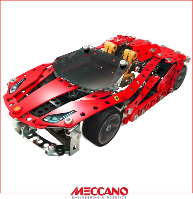 photo jouet meccano ferrari rouge