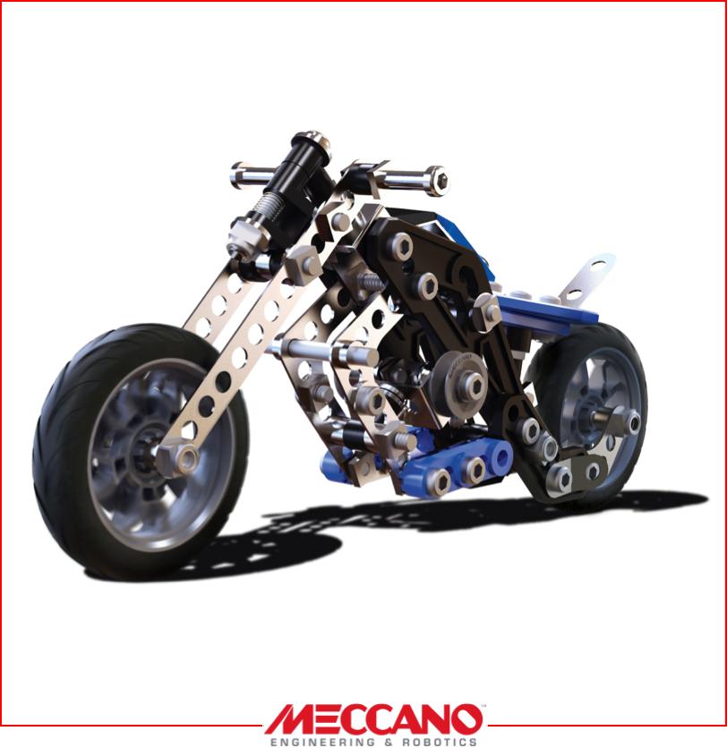 Photo jouet meccano moto