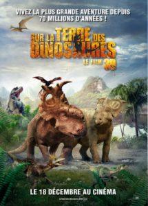Affiche film Sur la terre des Dinosaures