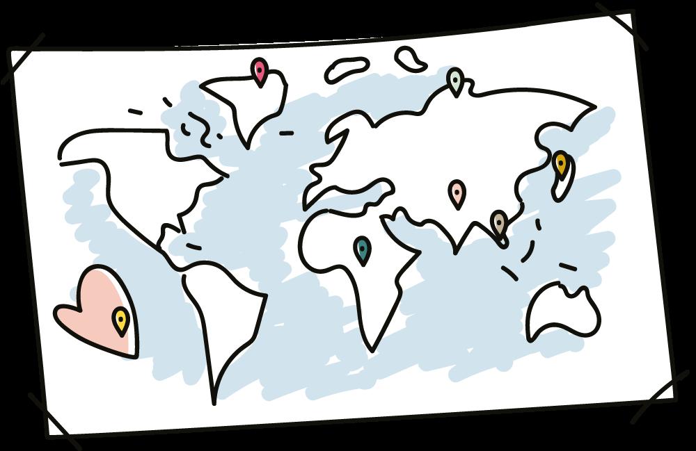 Carte du monde – Livre voyage.