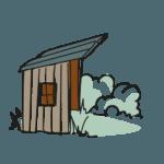 Le paradis des G.P - picto cabane