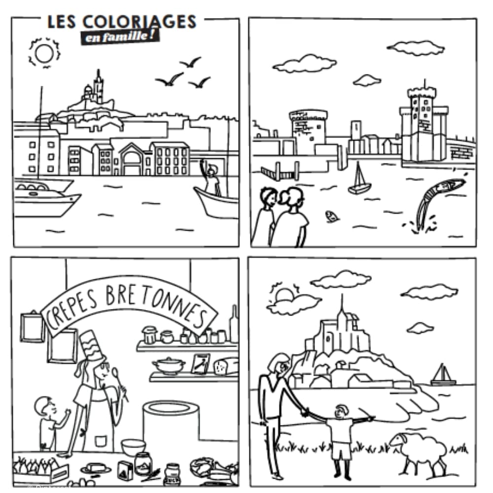 coloriages famille