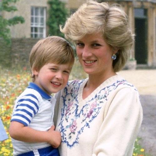 Lady Diana en compagnie du Prince William
