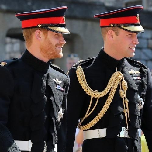 William et Harry au Mariage de Meghan Markle et Le Prince Harry et