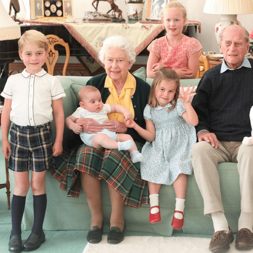Le Prince Philip et ses arrières-Petits-Enfants