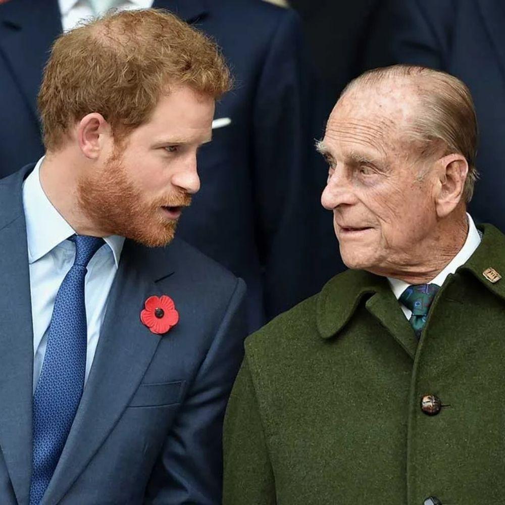 Le prince Harry et le prince Philip