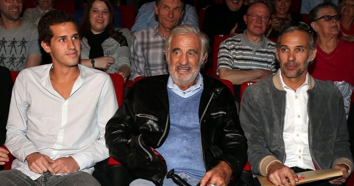 Jean-Paul Belmondo en compagnie de son fils et son Petit-FIls