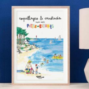 L'affiche 'Coquillages et Crustacés'