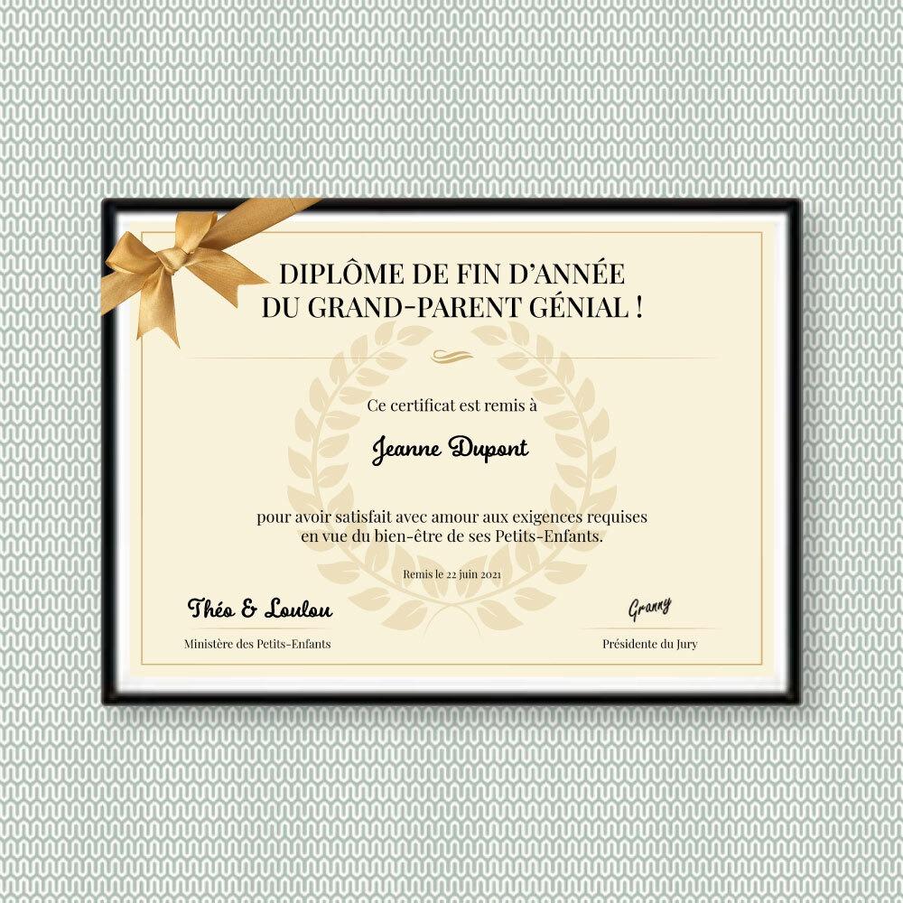 Le diplôme du meilleur Grand-Parent est attribué à …