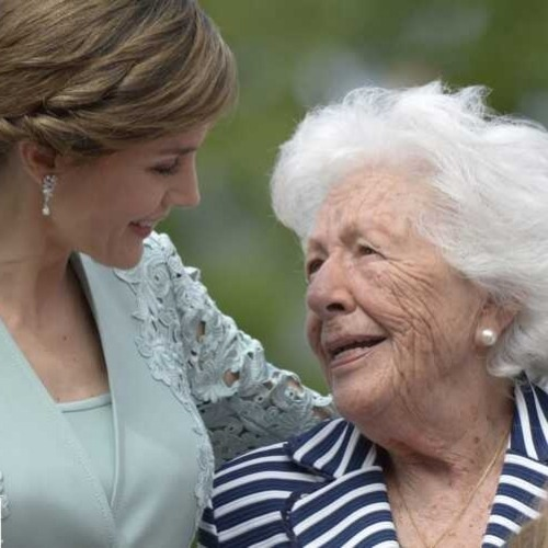 La Reine d'Espagne en deuil