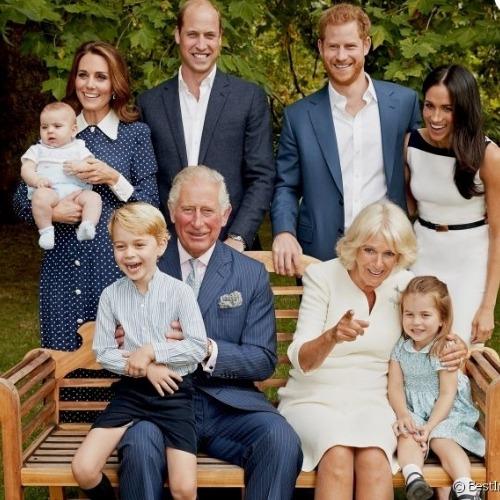 Camilla et les petits-enfants de Charles