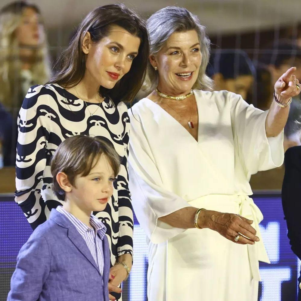 Caroline de Monaco fait une rare apparition avec son Petit-Fils !